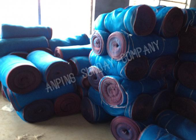 Red And White Edge HDPE Monofilament Nets 60g/㎡ For Agriicultural Crops