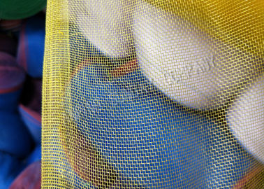 China 3.6m Width And 16x16 Eyes Nylon Mesh Net With Red And White Edge Blue supplier